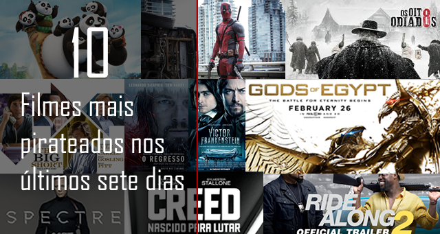 10 Filmes que mais foram pirateados nos últimos sete dias