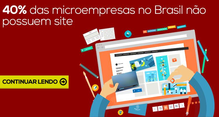 40% das microempresas no Brasil não possuem um site