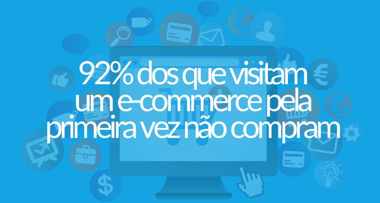 92% dos que visitam um e-commerce pela primeira vez não compram