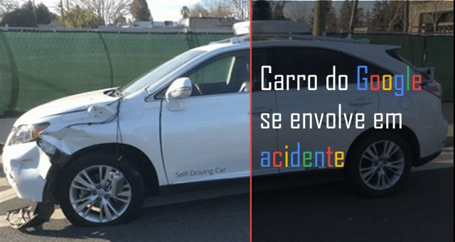 Carro do Google  se envolve em acidente