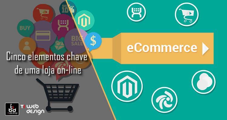 Cinco elementos chave de uma loja on-line