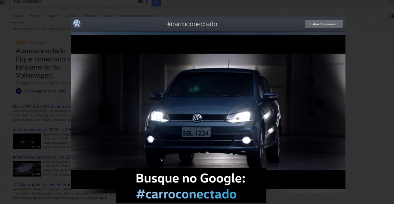 Formato Tag Search, do Google faz o sucesso na divulgação do Novo Gol