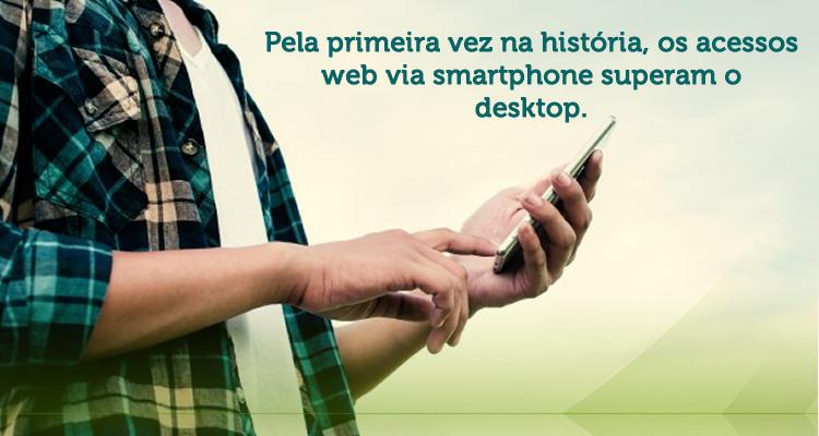 Pela primeira vez, o acesso á internet pelos dispositivos móveis supera o computadores.