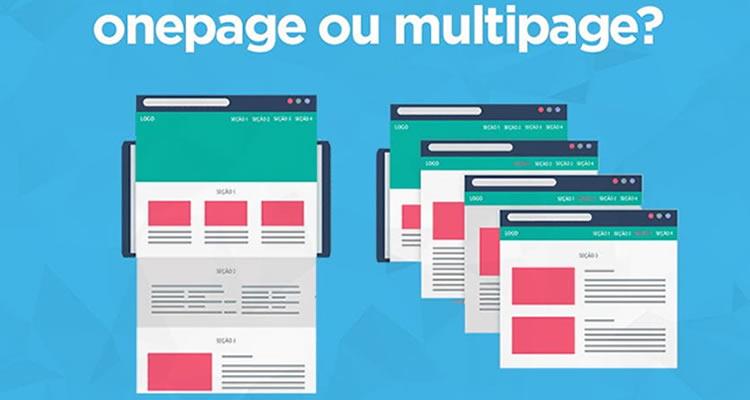 Prós e Contras da Criação de Site OnePage e MultiPages