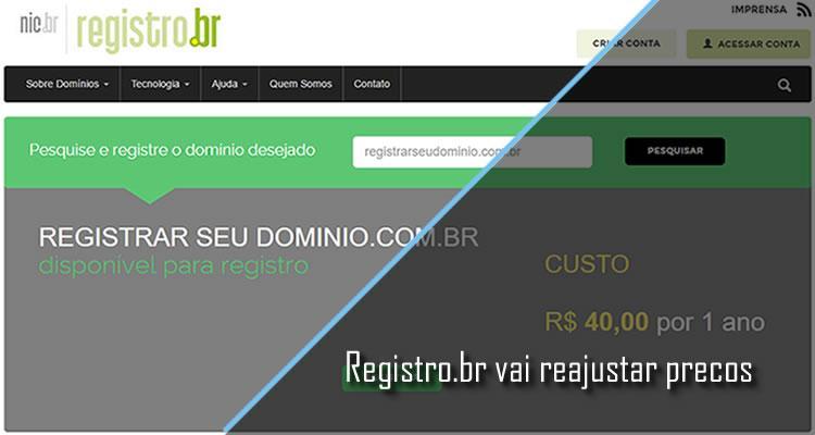 Registro.br reajusta preços para registro de domínios