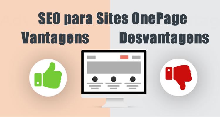 SEO para Sites OnePage. Vantagens e Desvantagens