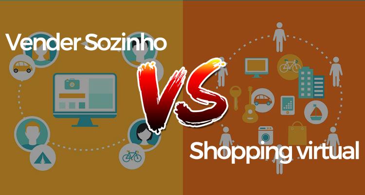 Vender sozinho na internet ou em um shopping virtual