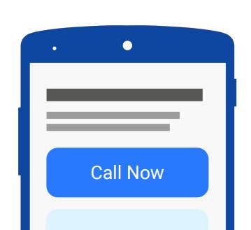 Tenha a sua chamada à frente de qualquer ação para as pessoas verem de modo fácil e intuitivo
