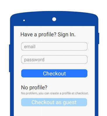 Permitir que usuários comprem sem cadastro, mas incentive o Registro sempre que possível
