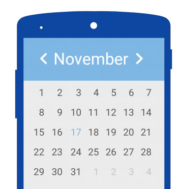 Quando se tratar de datas, forneça um calendário. Isso torna tudo mais fácil