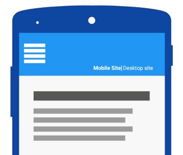 Avisar sobre o site móvel e desktop quando necessário