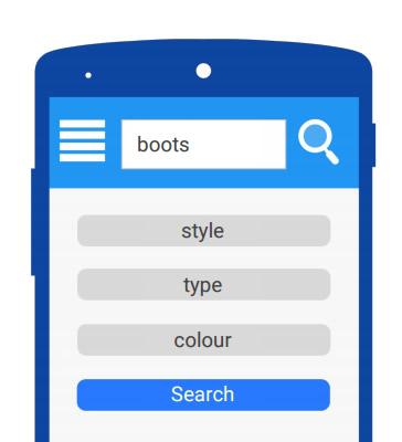 Inclua filtros de pesquisa para ajudar usuários obter resultados mais precisos