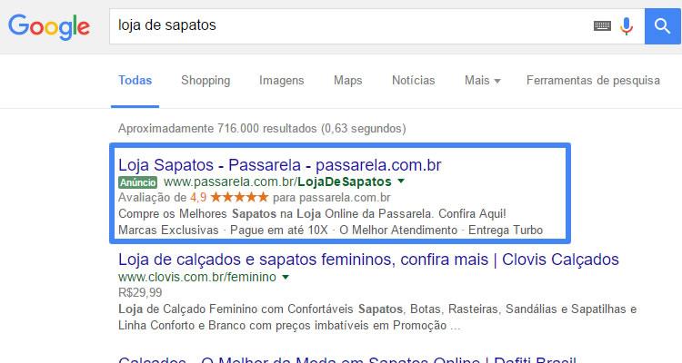 Os anúncios pay-per-click nos motores de busca