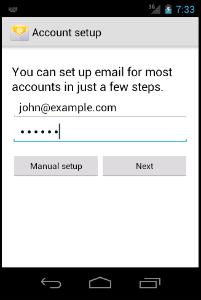 Tutorial sobre Como configurar uma conta de Email em seu dispositivo Android - Imagem Tutorial 3