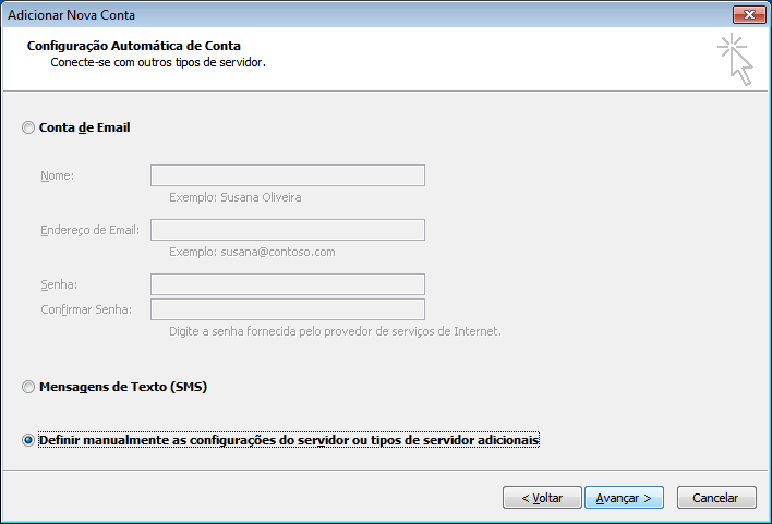Configurar seu e-mail Profissional no Outlook 2010