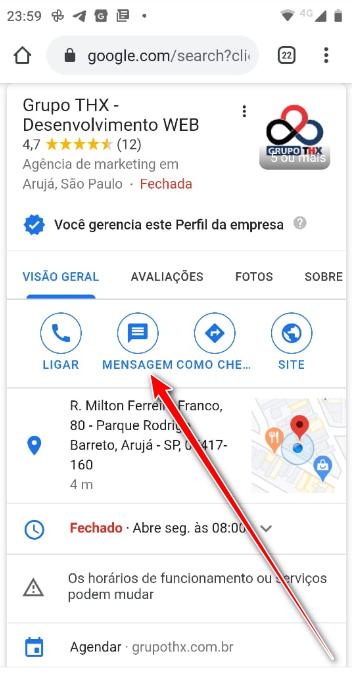 Google expande mensagens comerciais para sites móveis
