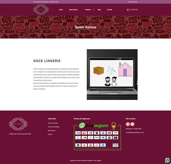 Doce Lingerie - Loja Virtual